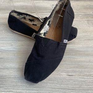 Classic Toms Alpargata loafer shoes black size 9
